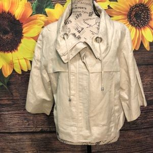 Sandro Sportswear Crop Jacket Linen Blend Blazer